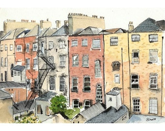 Chimneys in Dublin - 8 x 10