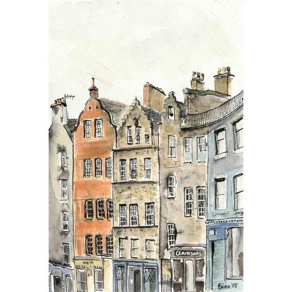 Victoria Street, Edinburgh - 8 x 10