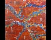 Was 225 Now 175, Abstract Art for Sale,Metal Artwork,Copper,Original Art, Abstract, Painting,Modern,Contemporary,Karina Keri-Matuszak