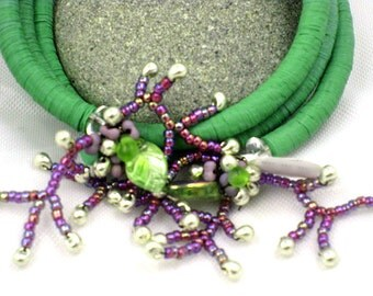 Wrap Vintage Artisan Sequin and Beadwork Bracelet