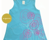 Flowers Baby Organic Girl Dress for Easter - Direct Checkout