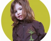 Tree Zipper Jacket Toddler Girl Brown (sale)