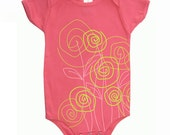 Gifts for baby girl Flowers Pink Organic Baby Girl Onesie