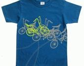 Gifts for toddler boy Bicycles Toddler Organic TShirt Blue