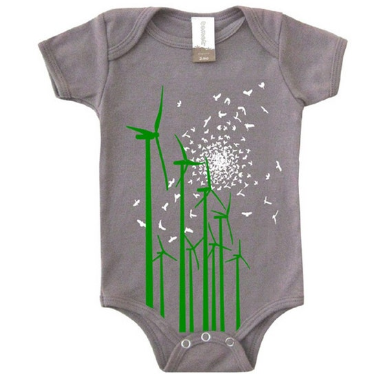 Windmill Organic Baby Onesie by Tomat