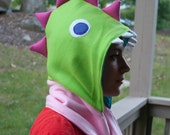 Cuddly Dinosaur Scoodie in Pink, Green, and Aqua