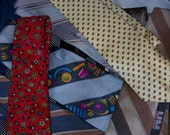 Neckties for crafting or wearing - bargain grab bag
