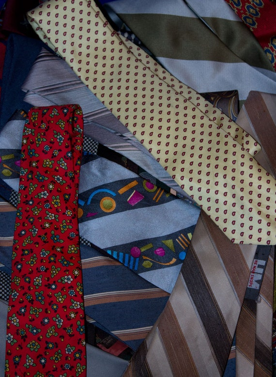 Neckties for crafting or wearing - bargain grab bag