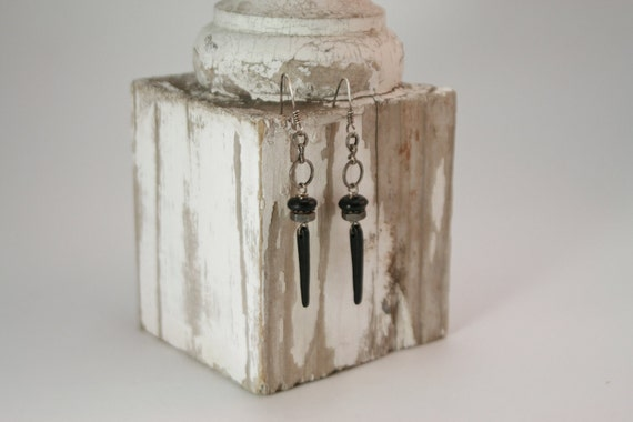 Industrial Style Black and Metal Earrings