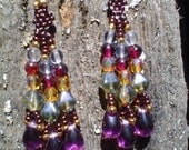Jewel tone beaded earrings