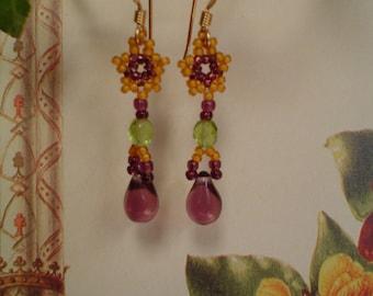Sunshine star beaded earrings