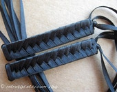 Night Life - Braided Ribbon Barrettes