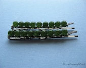 Sweet Peas - Beaded Bobby Pins (Large-Size)