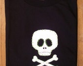 suzi boneshaker screened skull T-shirt size Large