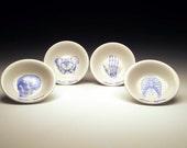BONE APPETIT dipping bowl Set of 4 in BLUE