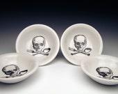 set of 4 skull DIPPING Bowls