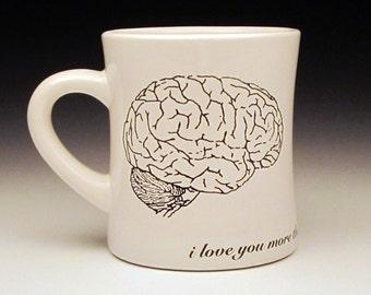 zombies love brains Large Diner Mug