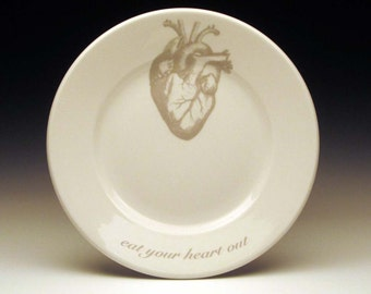 eat your heart out dessert plate in GHOSTIE GREY