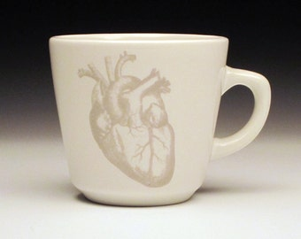 anatomical heart teacup in GHOSTIE GREY