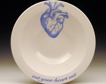 eat your heart out cereal bowl in Blue