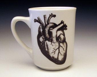 anatomical heart classic mug