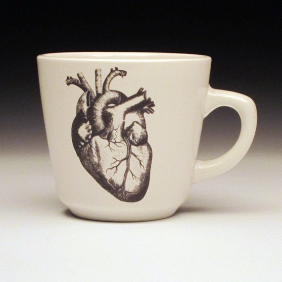 anatomical heart teacup