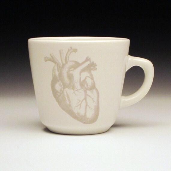 anatomical heart teacup in GHOSTIE GREY