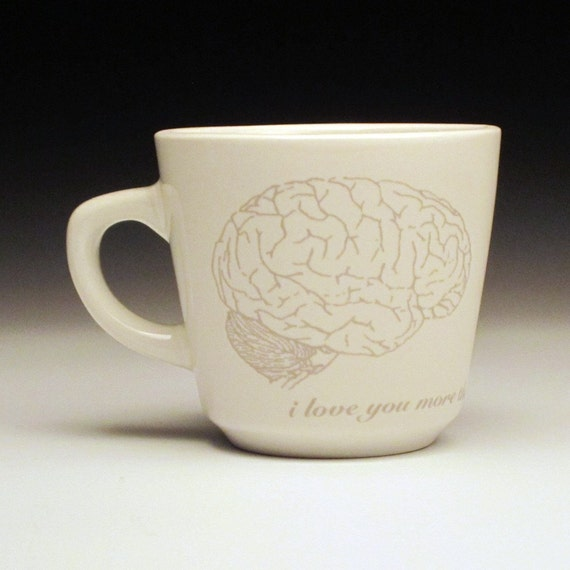 zombies love brains teacup in GHOSTIE GREY