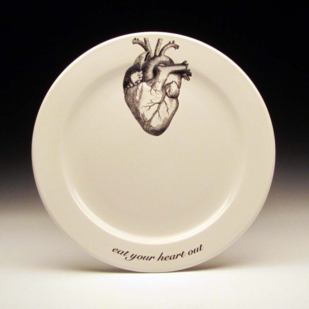 Eat Your Heart Out 9 Inch Dinner Plate Valentine Gift Gothic