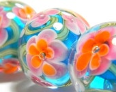 Tropical Lampwork Glass Beads - MADE TO ORDER