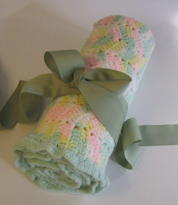 Crocheted Nursery Blanket 24 x 32
