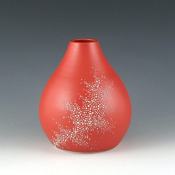 Pebble Vase in Red