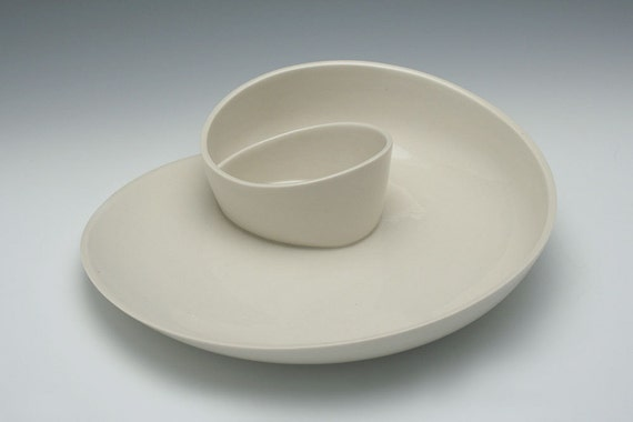 Plate - Whirl Serving Plate No. 12 - Porcelain Serving Plate - FREE SHIPPING