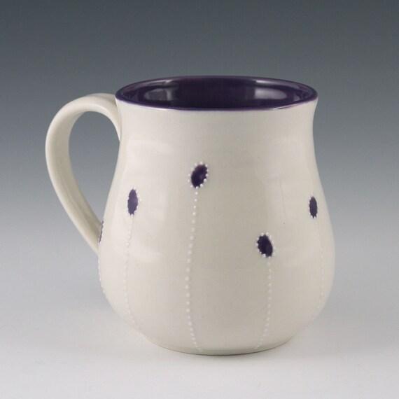 Mug with Dark Purple Accents