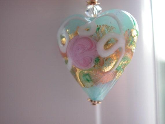 Venetian Murano Heart Pendant