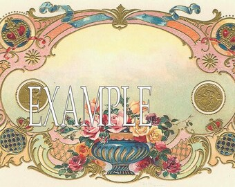 Digital Download Instant.Roses template  Beautiful. Busomess cards.Greeting  cards,place cards, altered art,sewing,framing,tags and more