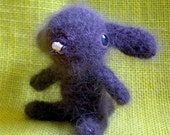 Chocolate Brown French Angora Rabbit Plush bunny