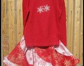Twirling Snowflake Redondo Skirt Set - Size 4/5 - In stock and ready to ship