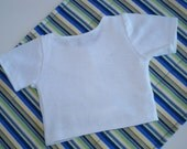 """Waldorf Doll   WHITE   t-shirt  for 10"""" to 18"""" dolls made to order"""