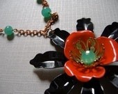 Poppy Princess Vintage Necklace (Gift Boxed for the Holidays)