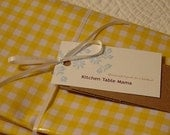 Splat Mat-Art Mat-Boutique Yellow Gingham Oilcloth