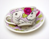 Rabbit in the Roses single person tea set