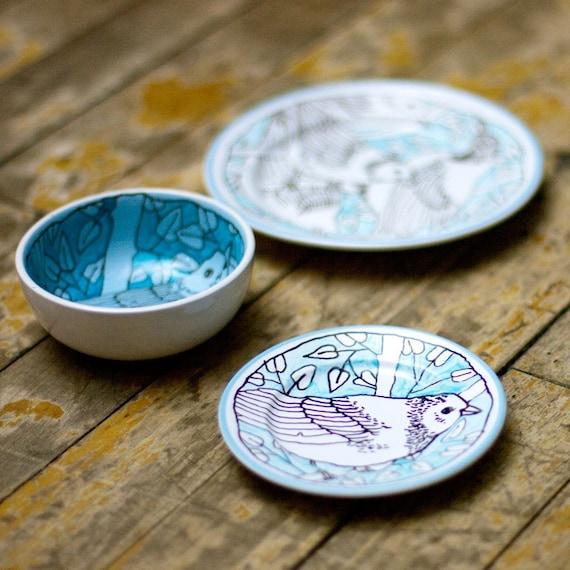 Blue Birds  - Mini breakfast set - special discount