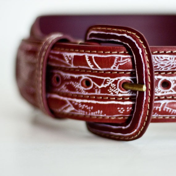 The Gang of Weasels - a hand painted leather belt