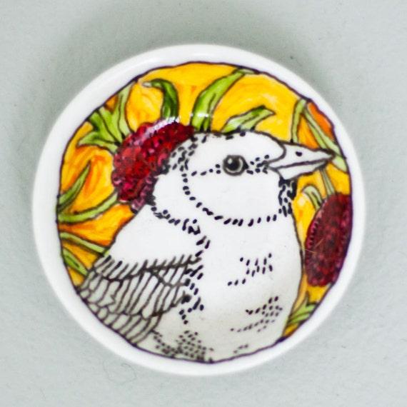 Salt plate - Orange Bird