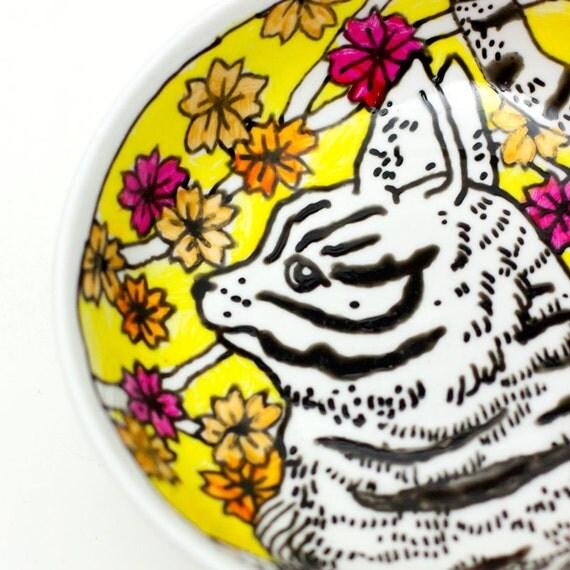 Tapas plate - Yellow cat