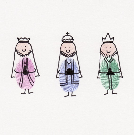 Items similar to three wise men card on etsy for Three wise men craft