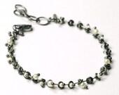 White Pearl Beadchain Bracelet