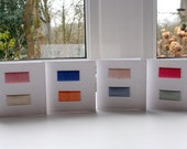 Set of 4 upcycled notecards - pretty threads set 1