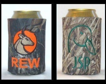 Personalized Mossy Oak Camo Can Cozie Monogrammed